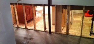 Water Damage Remediation Of Downstairs Flood