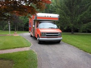 Water Damage and Mold Removal Truck Going To Job Site