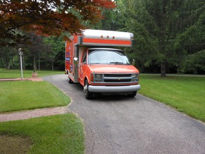 Water damage Galesburg fully equipped boxed van