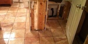Restoration Of Water Damaged and Mold Infested Bathroom